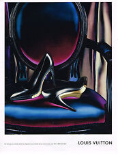 PUBLICITE ADVERTISING 104  2009  LOUIS VUITTON  boutique chaussures femme