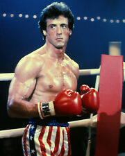 "SYLVESTER STALLONE IN THE FILM ""ROCKY III"" BALBOA - 8X10 PUBLICITY PHOTO (CC329)"