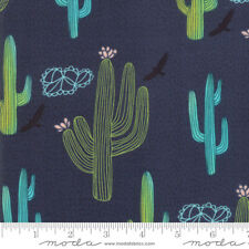 Moda Quilt Fabric Desert Song Denim by half-yard #13303 18 color dark blue