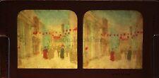 Exposition universelle de Paris Rue du Caire Diorama colorié Tissue Vintage 1889
