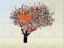PAINTING ILLUSTRATION ABSTRACT TREE LOVE HEART LEAVES ART PRINT POSTER MP3036B