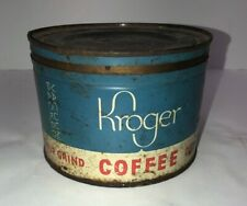 Vintage KROGER Coffee Can Tin
