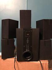 curtis 5.1 CH speaker system five cube speaker & 1 subwoofer