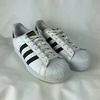 Adidas Originals Superstar Men's Size 9.5 Shoes C77124 White Black Gold