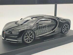 Kyosho Bugatti Chiron Black on Black 1:18 Scale Model Car - New