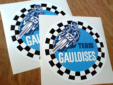 TEAM GAULOISES Car Motorcycle Retro Stickers Decals 2 off 100mm