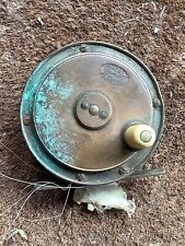 Vintage Antique Hardy Brass Trout Fly Fishing Reel Tatty