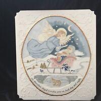 Vintage Porcelain Wall Art Plaque JoAnn Wedge-Our Guardian Angel...