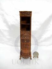 1:12 Scale Victorian Style High Cabinet For Doll House [Finished In Walnut]