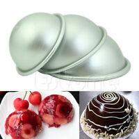 DIY Hemisphere Half Round Cake Pan Mold Chocolate Pudding Bake Tray New Mould