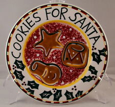 "The Cellar LOG CABIN ""Cookies for Santa"" Plate 8 3/8"" EXCELLENT"