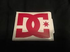 DC SHOES STICKER Motocross - 4 Inch - Pack Of 2 Red