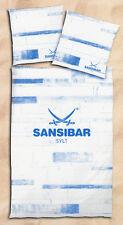 Bettwäsche Sansibar Sylt - beige / blau - 155 x 220 cm - Renforcé - Übergröße