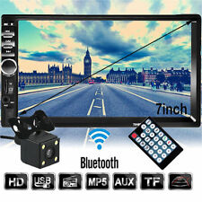 7'' Double 2DIN In Dash Car DVD Player Bluetooth Auto Stereo Radio Touch+Camera