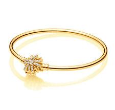Genuine Pandora Sparkling Star Clasp Bangle 597563CZ 14K Gold Vermeil Plated