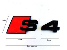 1 x 3D Audi 'S4' Black & Red zinc alloy metal badge 9 x 3cm approx A3 S3 A2