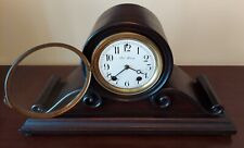 Working Antique New Haven Tambour Striking Mantle Clock Excellent Wood Case Runs