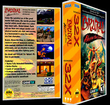 Brutal: Above the Claw - 32X Reproduction Art Case/Box No Game.