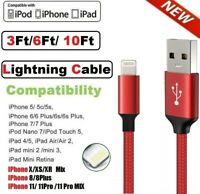 New iPhone Lightning Charger Cable For iPhone 6 7 8 Plus X XR XS Data Sync Cord