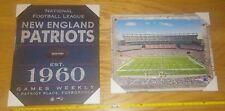 New England Patriots 1960 Foxboro GILLETTE stadium fan wall poster canvas 16x20