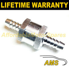 "8MM 5/16"" ONE WAY ALUMINIUM NON RETURN CHECK VALVE PETROL DIESEL OIL WATER"