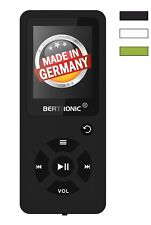 BERTRONIC Made in Germany BC03 16 GB MP3-Player - Schwarz - 100 Stunden