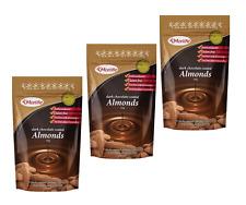 Morlife Dark Chocolate Almonds 125g x 3 | Healthy Snack | Gluten Free
