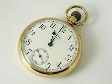 GOLD POCKET WATCH 9 CARAT WALTHAM USA 1928 ART DECO FULL SIZE 85.7 GRM 48.3 MMS