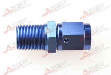 """Aluminum Fitting Adapter Swivel -4 AN -4AN Female to 1/4"""" NPT Male Blue"""