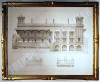 GRAVURE TRIBUNE 2 HIPPODROME LONGCHAMP Bois de Boulogne PROMENADES DE PARIS 1882