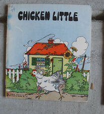 Vintage 1932 Platt & Munk Childrens Book Chicken Little