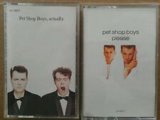 PET SHOP BOYS Please Actually lot of 2 CASSETTE TAPE USED