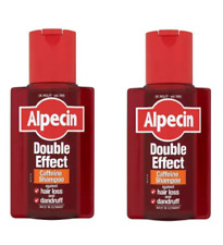 2x Alpecin Double Effect Caffeine Shampoo Hair Loss 200ml + 2X FREE 15ml samples