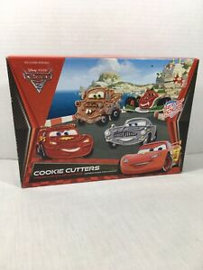 Disney Pixar Cars 2 - Cookie Cutters Press & Stamp William Sonoma New Open Box