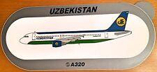 UZBEKISTAN AIR, Airbus A320 Sticker, High Quality Print, new, HIGHLY RARE !!!