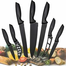 Knives Set Stainless Steel 7 Piece Cutlery Pizza Professional Kitchen Chef Knife