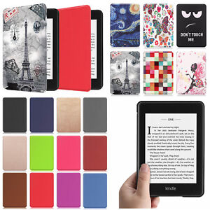 For Amazon Kindle Paperwhite 10th Generation 2018 Leather Case Cover Sleep/Wake