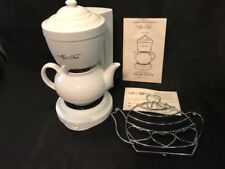 Mrs Tea By Mr Coffee Hot Tea Maker NEW 6 Cup White
