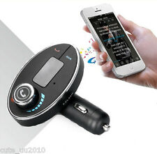 Wireless Bluetooth Music Streaming FM Transmitter HandsFree Calling USB Charger