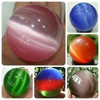 6 color 40mm Mexican Opal Sphere Crystal Ball/ stand Free shipping