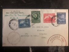 1929 Port Prince Haiti first flight cover FFC To Spanish Antilles