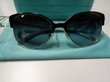 4564cd399b0 TIFFANY   CO Light Blue And Black Cat Eye Sunglasses One Size Plastic B4735