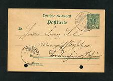 Dt. Reich - Ganzsache aus Bieber nach Bodenheim 1900   (EB-2)