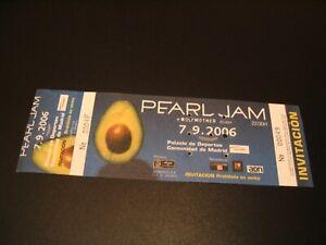 PEARL JAM TICKET INVITATION MADRID SPAIN TOUR 2006 COMPLETE
