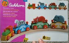 Eichhorn wooden Circus train set with 3 animals. Thomas train compatable