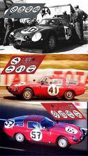 Calcas Alfa Romeo TZ Le Mans 1964 40 41 57 1:32 1:24 1:43 1:18 TZ1 slot decals