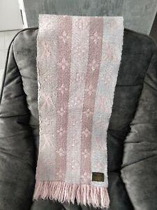 LOUIS VUITTON Pink Rainbow Wool Silk Logomania Scarf Monogram Shawl M73057
