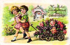 Geburtstag, Kinder mit Leiterwagen, Rosen, 1932