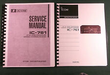 "Icom IC-761 Service & Instruction Manuals: w/ 11""X17"" Foldouts & Plastic Covers"