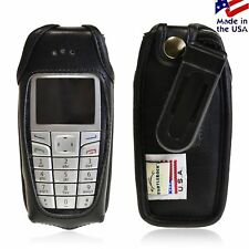 Turtleback Nokia 6015i Leather Fitted Phone Case with Plastic Belt Clip